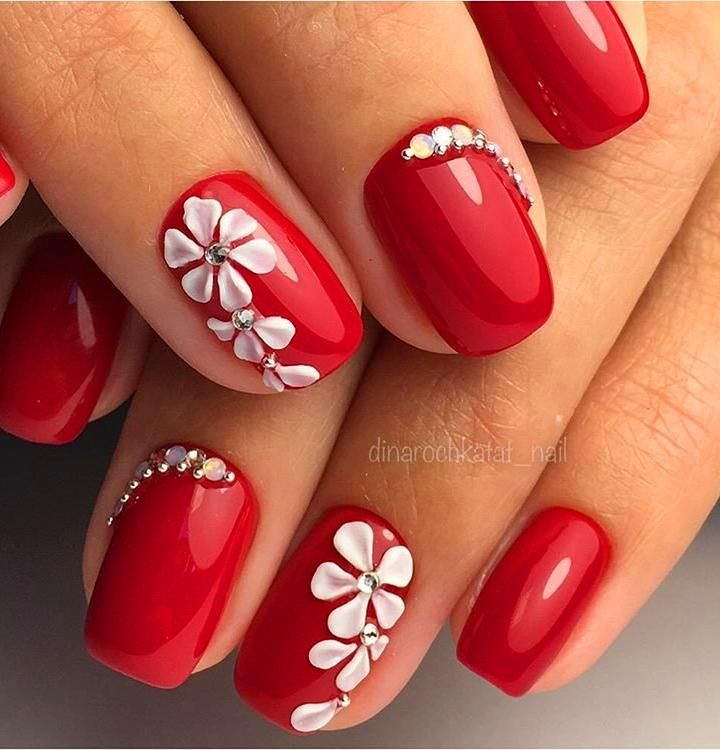 70 Simple Nail Design Ideas That Are Actually Easy Red Nail Art Elegant Nail Art Elegant Nails