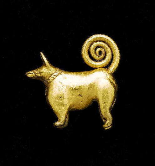 Elamite Dog Amulet of the goddess Gula, Circa 3rd Millennium BC In ancient Elam, the significance of the dog was related to the goddess Gula, since they were her sacred animals. As the goddess of healing and patroness of doctors, these gold amuletic dogs may have been thought to have healing powers.