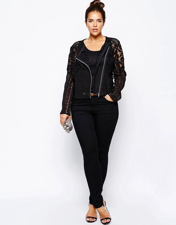 Image 4 ofASOS CURVE Exclusive Premium Lace Jacket