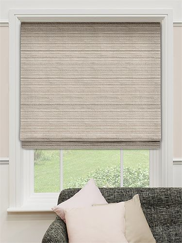Harwich Striped Sand Roman Blind from Blinds 2go