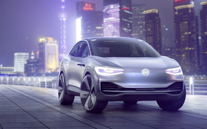 Volkswagen ID Crozz Concept, 2017, Front view, future car, crossover, VW