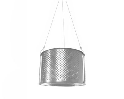 Lampa DRUM - srebrna // Ekodizajn