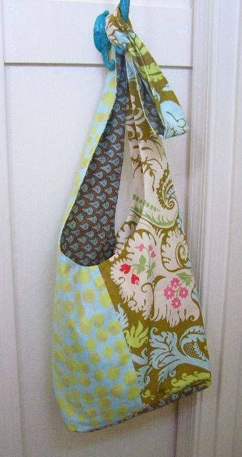 The Boho Sling Bag – plain or fancy - makes a great casual tote bag. This is a sewing project for everyone regardless of their sewing pedigree or experienc