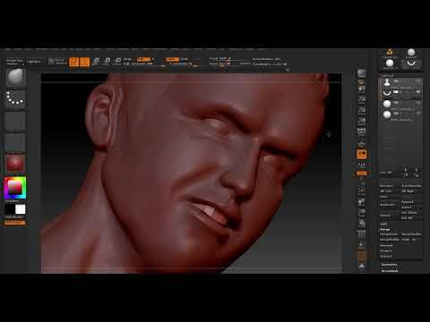 Zbrush sculpting: Real Christiano Ronaldo (texture painting
