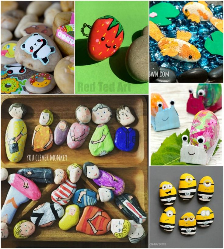 Rock Crafts for Kids – 25 Creative Rock Painting Ideas