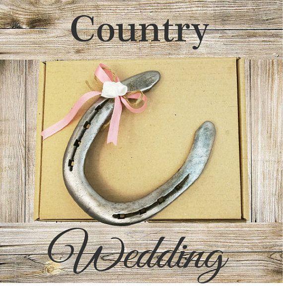 Country Wedding Decor  Horseshoe Sign Bridal Horseshoe Gift