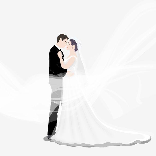 الصور الظلية من العروس والعريس الديكور أبيض وأسود العروس رسم سينا Png وملف Psd للتحميل مجانا Bride Clipart Bride Man And Woman Silhouette