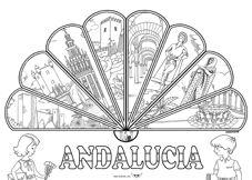 Para ir preparando el día de Andalucía hemos subido un poster con un abanico, en el cual hemos puestos cada una de las ocho provincias de Andalucía. Para los que tengáis dudas con los dibujos, de izquierda a derecha: Jaén (Castillo de Santa Catalina), Cádiz (Puerta de Tierra), Sevilla (Giralda), …