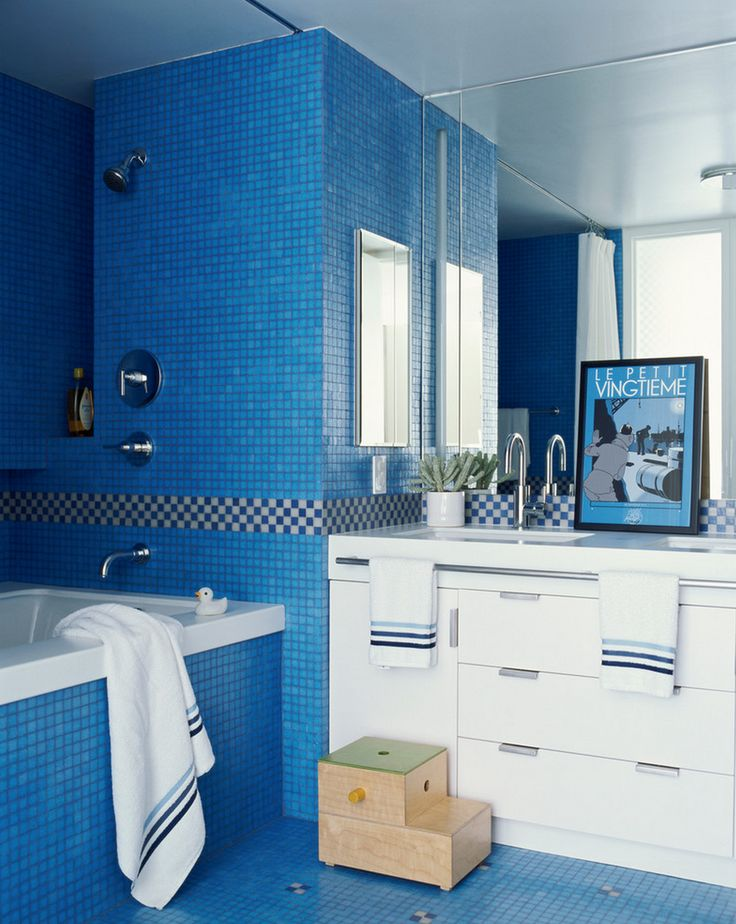 Bathroom Ideas Blue 87 best colorful bathrooms images on pinterest | bathroom ideas
