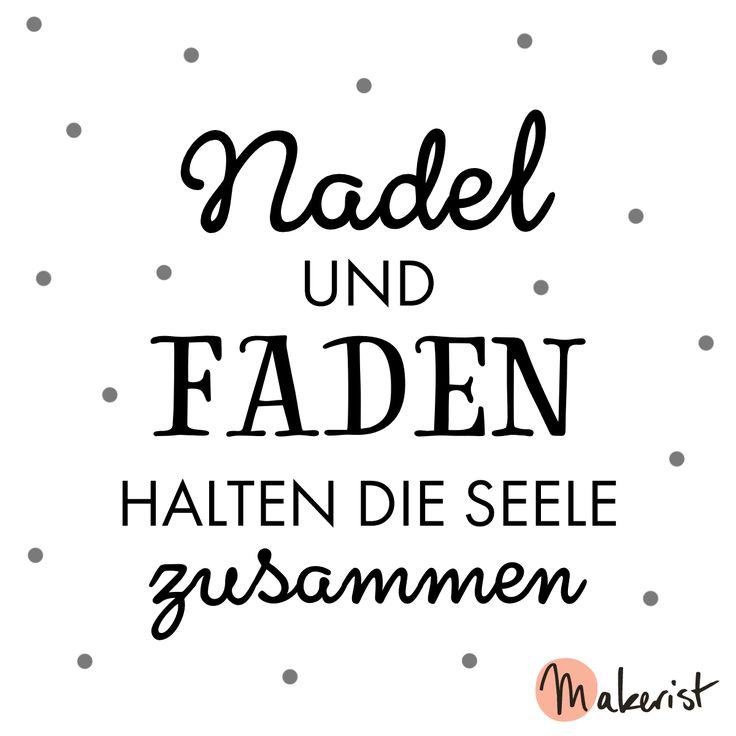 Nadel und Faden halten die Seele zusammen <3 via Makerist.de