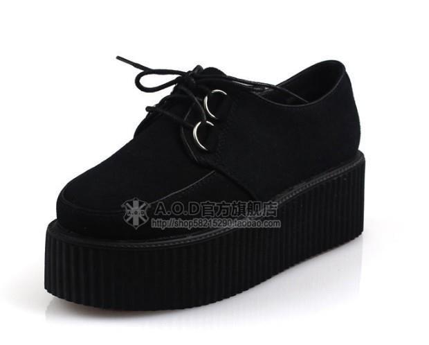Купить готические ботинки на платформе