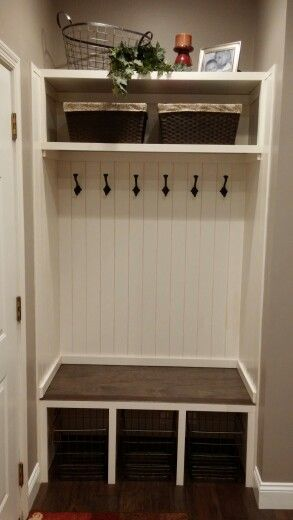 My laundry room/mudroom organization...love it!