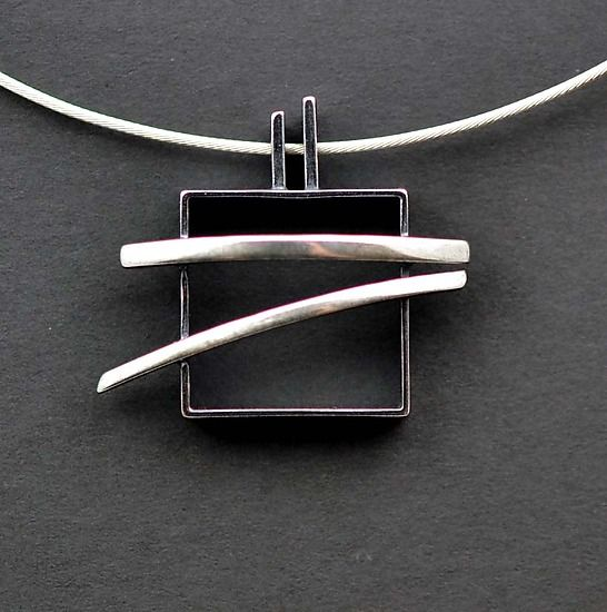 Pagoda Necklace: Hilary Hachey: Silver Necklace - Artful Home