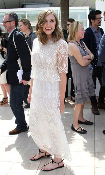 """Elizabeth Olsen Photos - Elizabeth Olsen - the younger sister of Mary-Kate and Ashley Olsen - looks lovely in lace at the """"Martha Marcy May Marlene"""" photocall in Cannes. The photocall was held as part of the 64th Cannes Film Festival at the Palais de Festivals on Croisette Avenue, Cannes. - Elizabeth Olsen at the """"Martha Marcy May Marlene"""" Photocall in Cannes"""