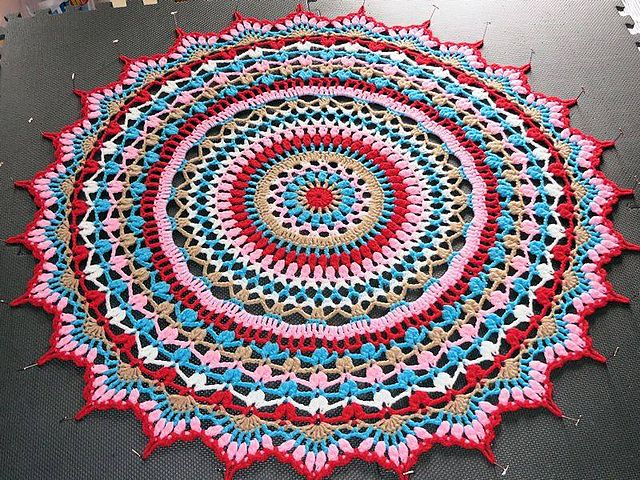 Ravelry:  Doily Blanket using regular doily pattern
