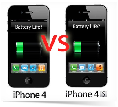 iphone 4 vs 4s battery