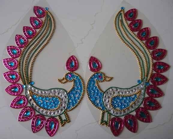 Beautiful peacock made on OHP sheet by Nikita Creations