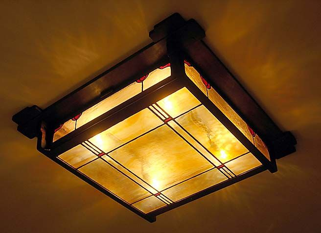 Greene and Greene reproduction Ceiling Fixtures