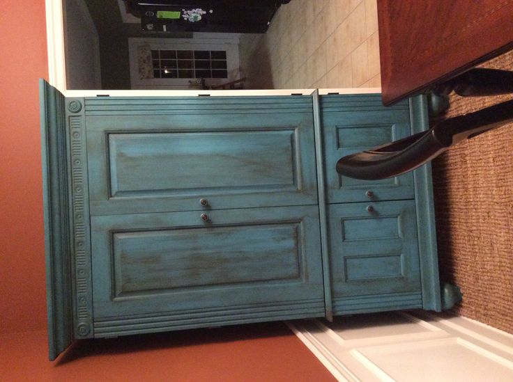 Computer Cabinet Painted With Decoart Americana Decor
