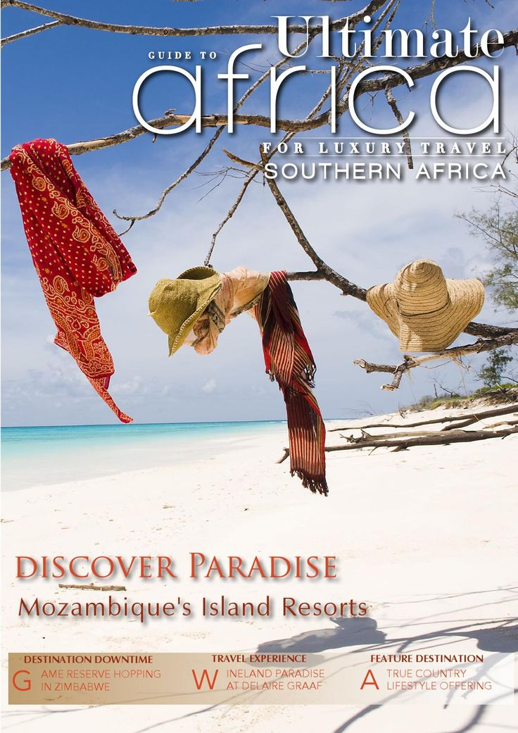 Ultimate Guide To  Africa May 2015  Our cover feature, the luxurious Mozambique Island Resorts, have been recognised as some of the best Island destinations and first choice for honeymooners. Our featured Travel Experience, the Delaire Graff Estate, a world-leading destination for wine, art and hospitality.  This month's country escape doubles up as an award-winning winery, while our featured winery sports the very unique Atlantic Ocean seaside vineyards.  To top it all off we present an…