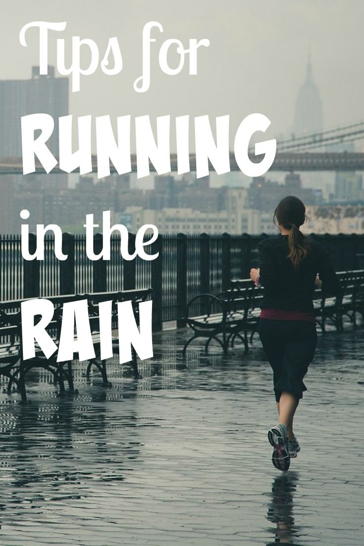 Tips for Running in the Rain - just because the forecast is looking dismal doesn't mean you have to treadmill it. Follow these tips, grab a visor, and go!