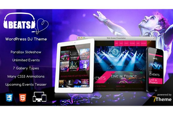 Beats - WordPress Music Theme by 7Theme on Creative Market