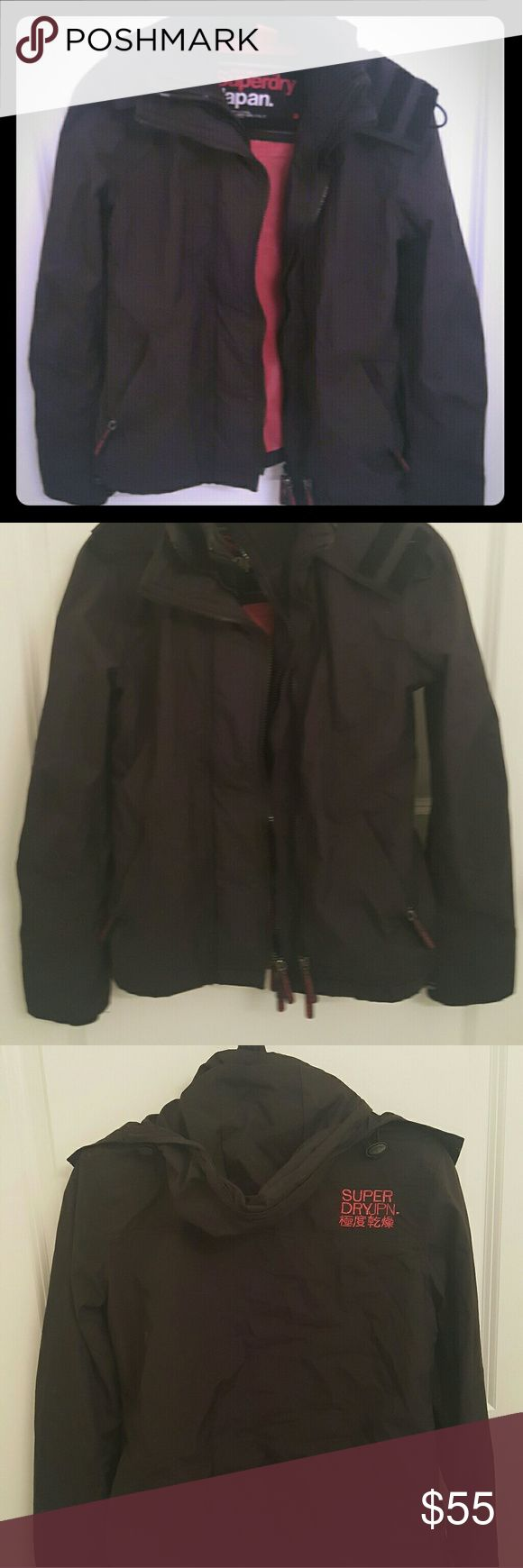 Superdry Pop Zip Hooded Windcheater Like new, hardly worn. This is the version with mesh lining, not fleece. Good jacket for spring. Superdry Jackets & Coats Utility Jackets