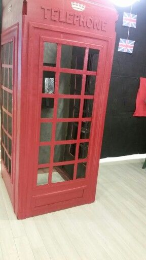 London calling refrigerator box phone booth party