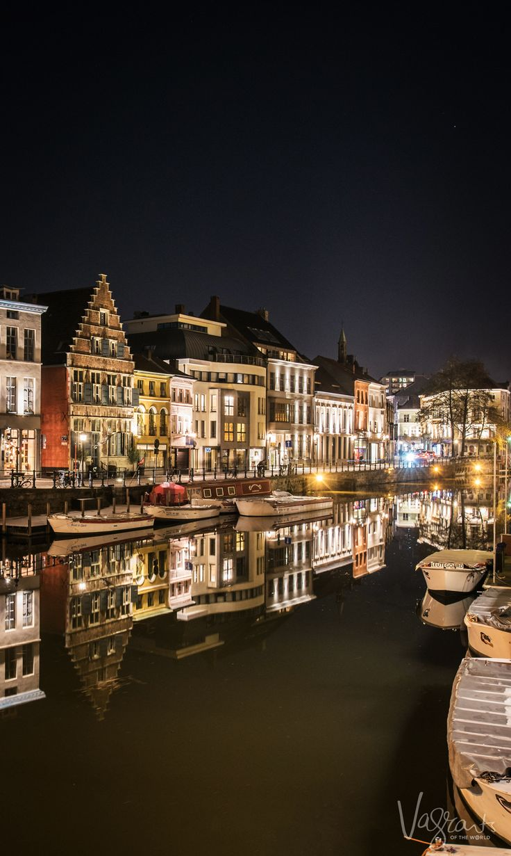 Looking for things to do in Ghent Belgium? A walk through the city at night is more than an average evening stroll.
