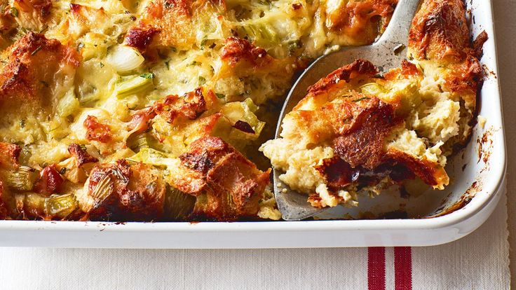 Keep this on file for your Thanksgiving table - Recipe: Ina Garten's Herb & Apple Bread Pudding