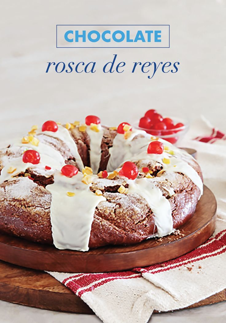 All eyes will be on this Chocolate Rosca de Reyes cake when you make it for your family.You can't beat this dessert recipe that's filled with candied cherries, candied oranges, and La Lechera Sweetened Condensed Milk to keep it moist, and topped with a delicious glaze! It will be the star of your holiday menu.