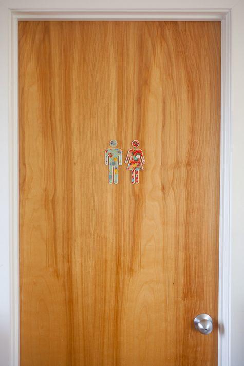 Bathroom symbols as door pulls?