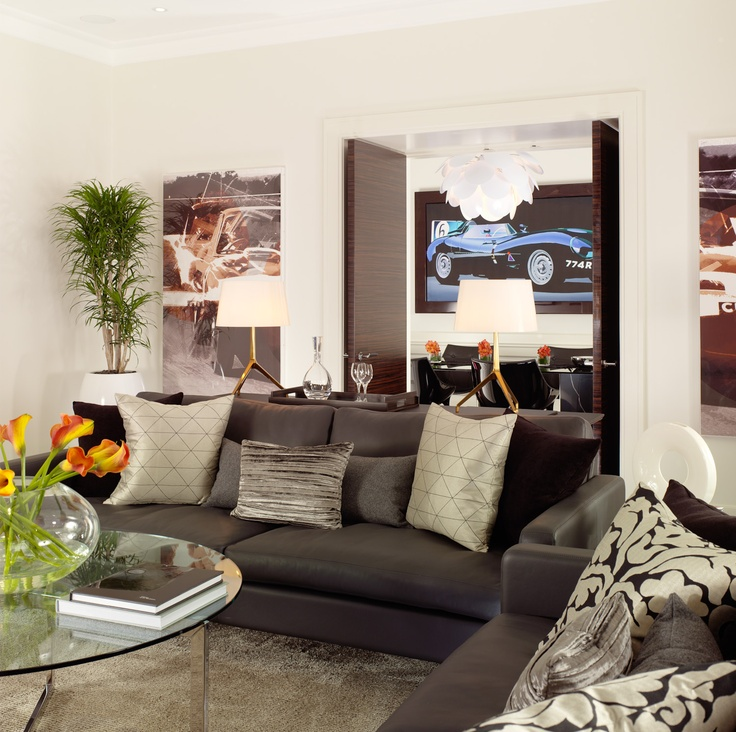 Jaguar Suite living room, leading to the dining room
