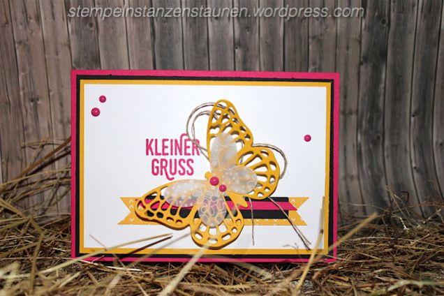 #GDP027, Stempeln, stanzen, Staunen, Thank you card, Danke Karte handmade with Stampin' Up!, SAB, Sale a Bration, Paarweise, Butterfly, Schmetterling, Melon Mambo, Wassermelone, Perfect Pairings, Berlin, SU
