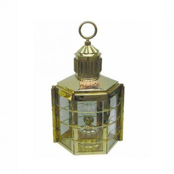 Clipper-Lampe Messing, Petroleumbrenner, H: 33cm