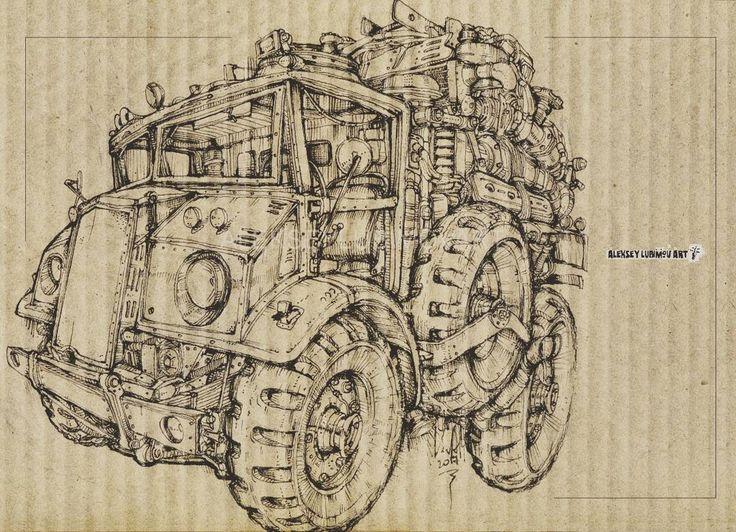 Military  Author Aleksey Lubimov #алексейлюбимовбиомеханика #алексейлюбимов #стимпанк #дизельпанк #биомеханика #marchofrobots #steampunk #dieselpunk #alekseylubimov_art #biomechanical #lineart #hotrod #alekseylubimov_art