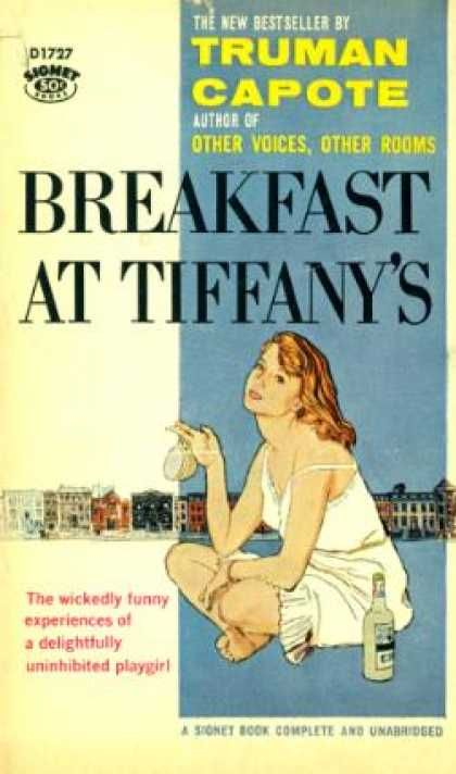 Breakfast at Tiffany's by Truman Capote: Rather different to the film.  I like that this cover has nothing to do with Audrey Hepburn.