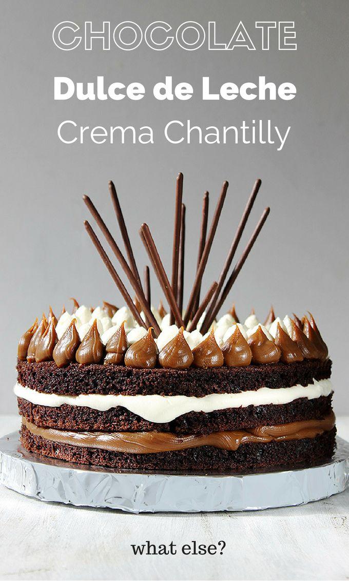 Torta Nude rellena de Dulce de Leche y Crema Chantilly. Bien clásica pero deliciosa y un exito asegurado