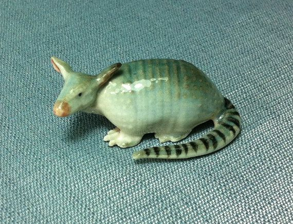 Miniature Ceramic Armadillo Animal Cute Little by thaicraftvillage, $8.00