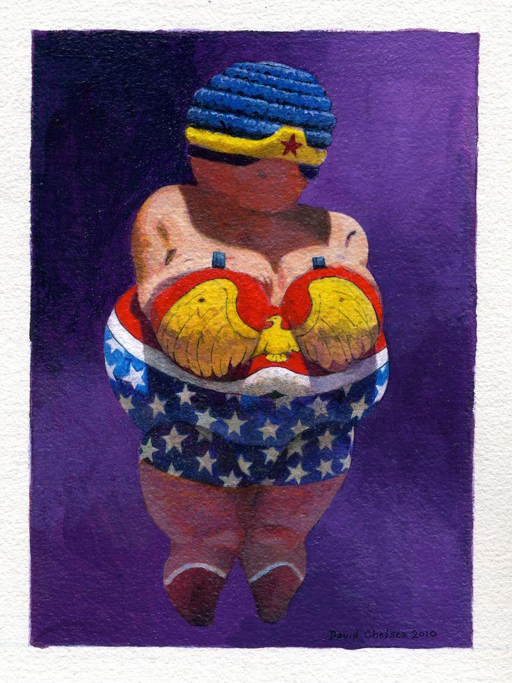 "Wonder Woman based on prehistoric ""Venus of Willendorf"" sculpture"