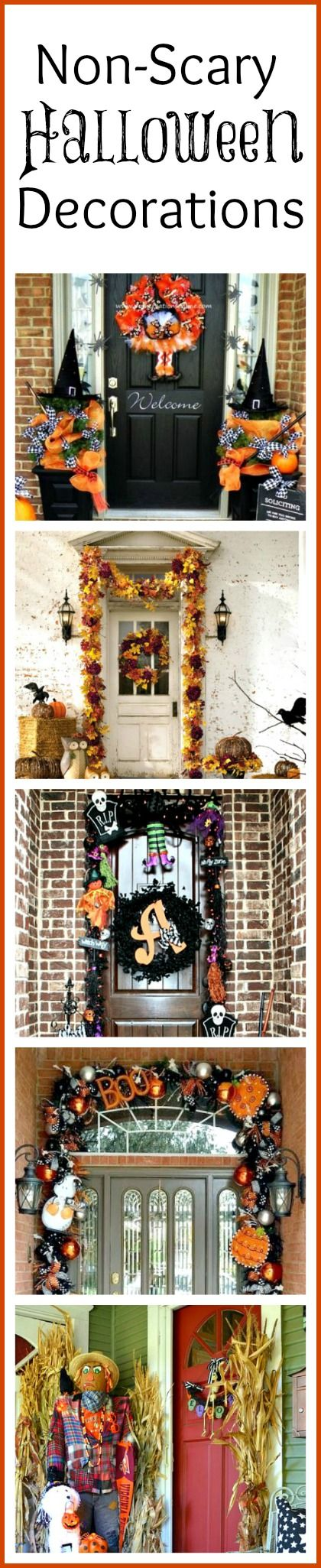 Non-Scary Outdoor Halloween Decorations For Your Front Door