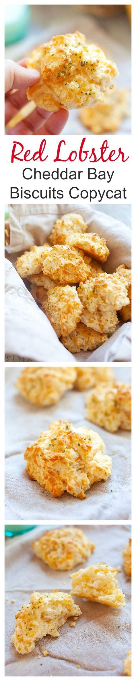 Red Lobster cheddar bay biscuits copycat recipe, close to the original Red Lobster cheddar bay biscuits. Crumbly, cheesy, and the best biscuits ever | rasamalaysia.com