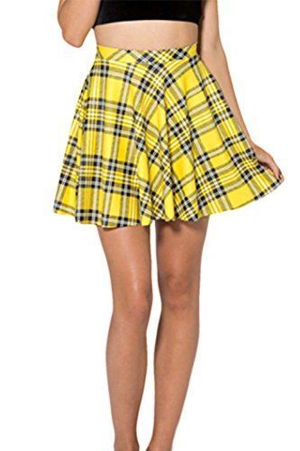 fall makes fashion fun with its bold array of colors from red, copper, orange, rust, gold and yellow. Along with being affordable these women's fall clothing under 10 dollars are super sexy and trendy. This means you can get more bang for your buck while looking gorgeous! Women's Summer Simple Stretchy Pleated Plaid Mini Skater Skirt Yellow S