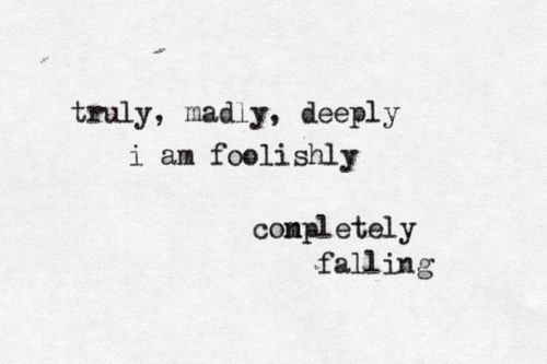 But change to foolishly fell for you or something cute like that.