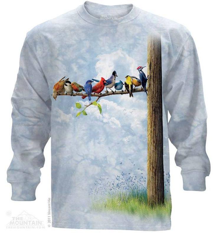 Bird Tree Long Sleeve Tee - Womens Clothing - - Women T-Shirt - T-Shirts for women - Mens Clothing - Mens t-shirts - t-shirt for men - Unisex T-Shirts - Cotton T-Shirts - Long Sleeve T-Shirts - Long Sleeve T-Shirt - Christmas Ideas - Presents for Christmas