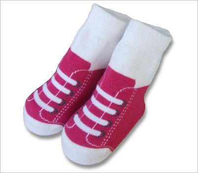 Pink Sneaker baby toddler bootie $2