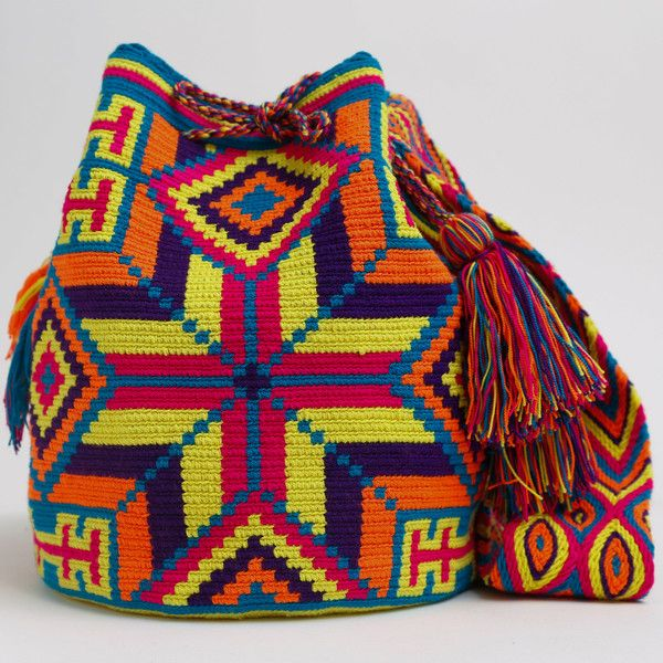 WAYUU TRIBE | #Handmade Boho Bags & Crochet Patterns made by the indigenous Wayuu Tribe in Colombia! #BogoBags starting at $98.00 - $225.00 We offer international shipping including Brazil. #Mochila #Bolsa #Yoga #Crochet #Knit #yarn #moda #mode #boho #handbag #streetstyle #bucketbag