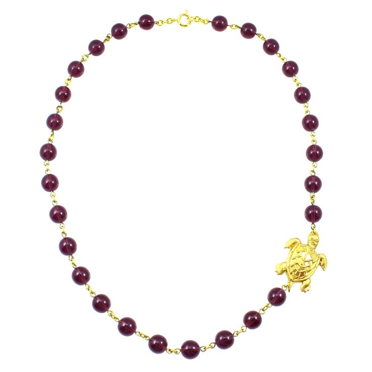 Purple Statement Necklace. Sea Turtle Necklace from Manic Trout Jewelry in Austin, Texas.
