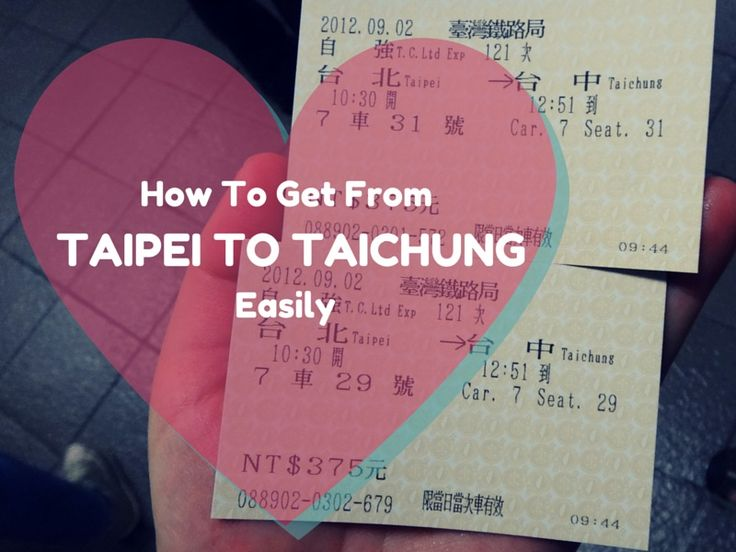 Our guide to getting from Taipei To Taichung in Taiwan