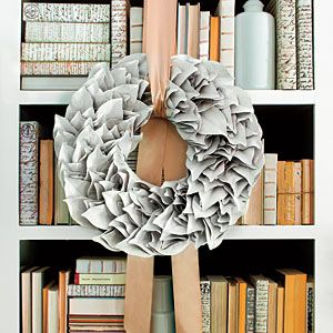 Very cool idea!  Complement Your Home with Holiday Décor | Laquer the Wreath | SouthernLiving.com